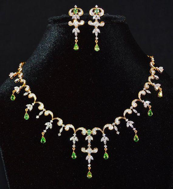 Certified 11.02CTS Natural VS G H Diamond Tsavorite Green