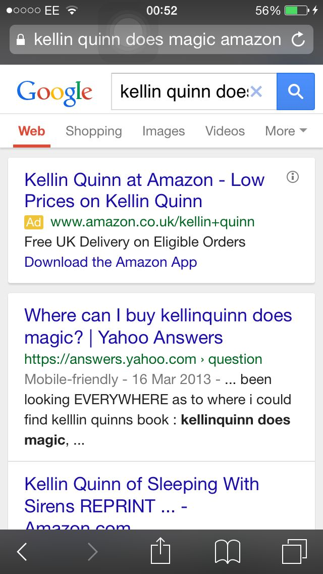 Low prices on Kellin Quinn. Oh wow.....