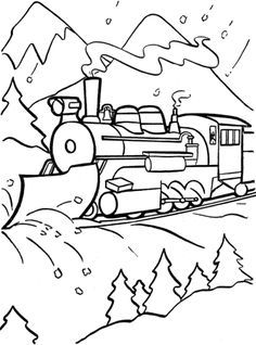 Christmas Coloring Pages Train Coloring Pages Polar Express