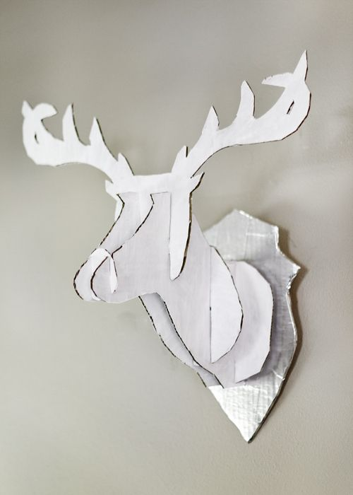 diy cardboard deer head diy faux taxidermy taxidermy diy