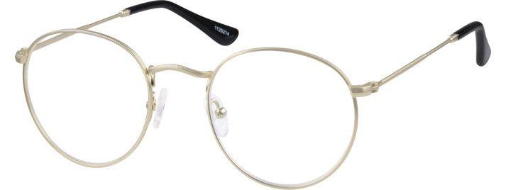 Zenni Sepulveda Retro Round Prescription Eyeglasses Gold Stainless ...