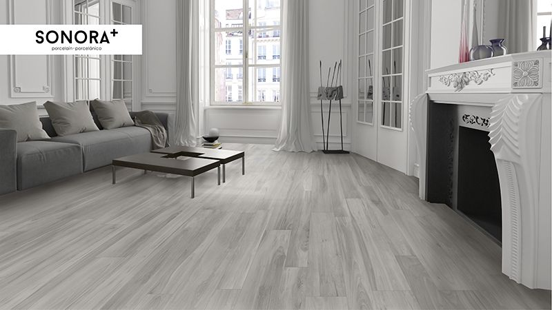 Sonora grey ceramic tiles that looks like wood wood - Wood look ceramic tile in living room ...