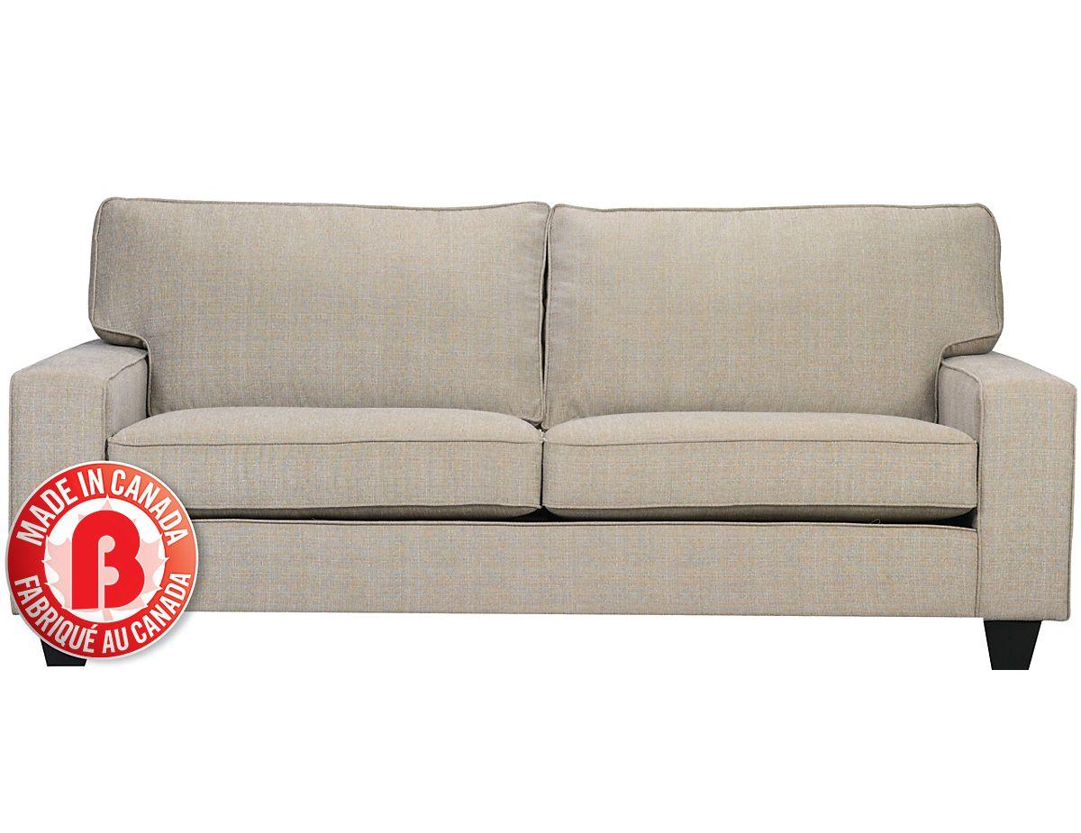 Designed2B Dax Linen-Look Fabric Sofa  Mist, (DAX102481) | The Brick