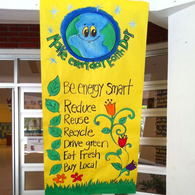 Earth day poster | School's Crafts | Pinterest | Earth day, Earth ...