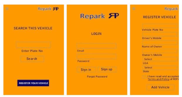 Repark mobile app Car Parking Assistant Mobile app