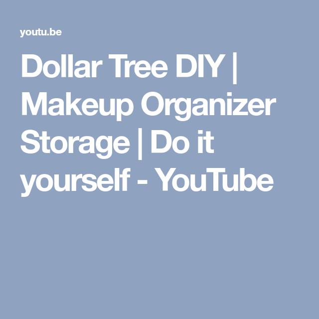 Dollar tree diy makeup organizer storage do it yourself dollar tree diy makeup organizer storage do it yourself youtube solutioingenieria Image collections