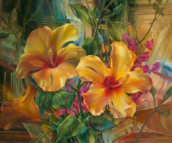 29 Gambar Lukisan Bunga Flower Painting Art Painting Oil Beautiful Paintings