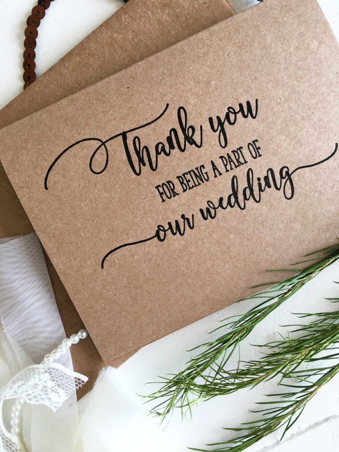 Wedding Party Thank You Card Wedding Party Gifts Wedding Party