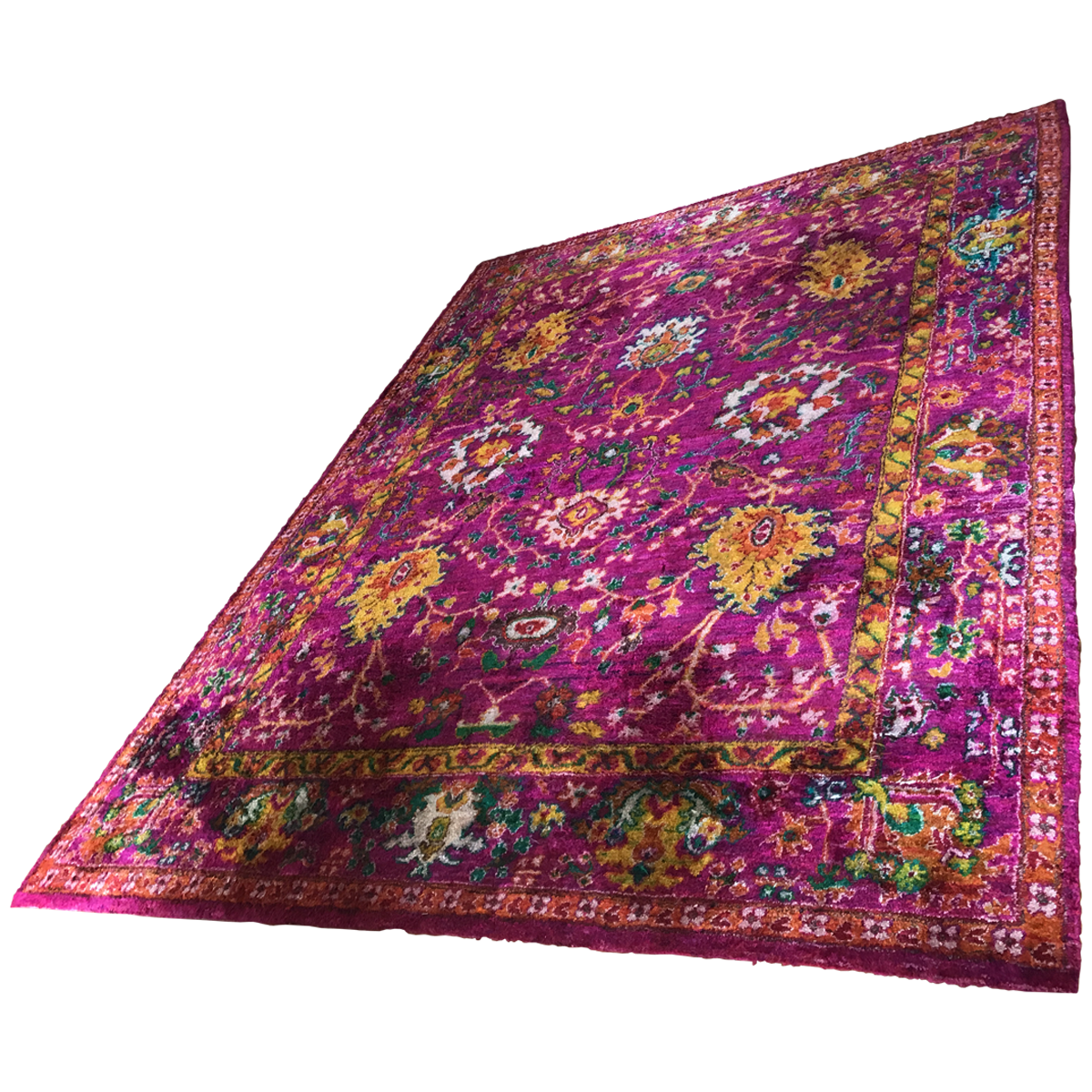 Indian Recycled Sari Silk Rug 9 X 11 6 Rugs Eclectic Rugs