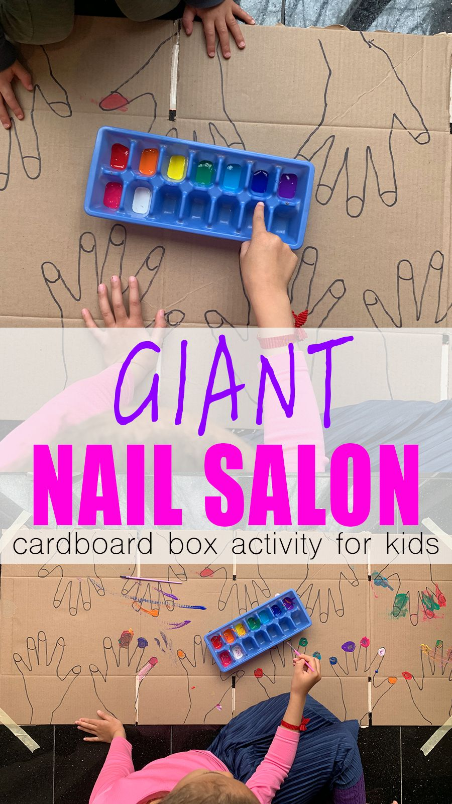 Photo of Giant Nail Salon for Kids – HAPPY TODDLER PLAYTIME