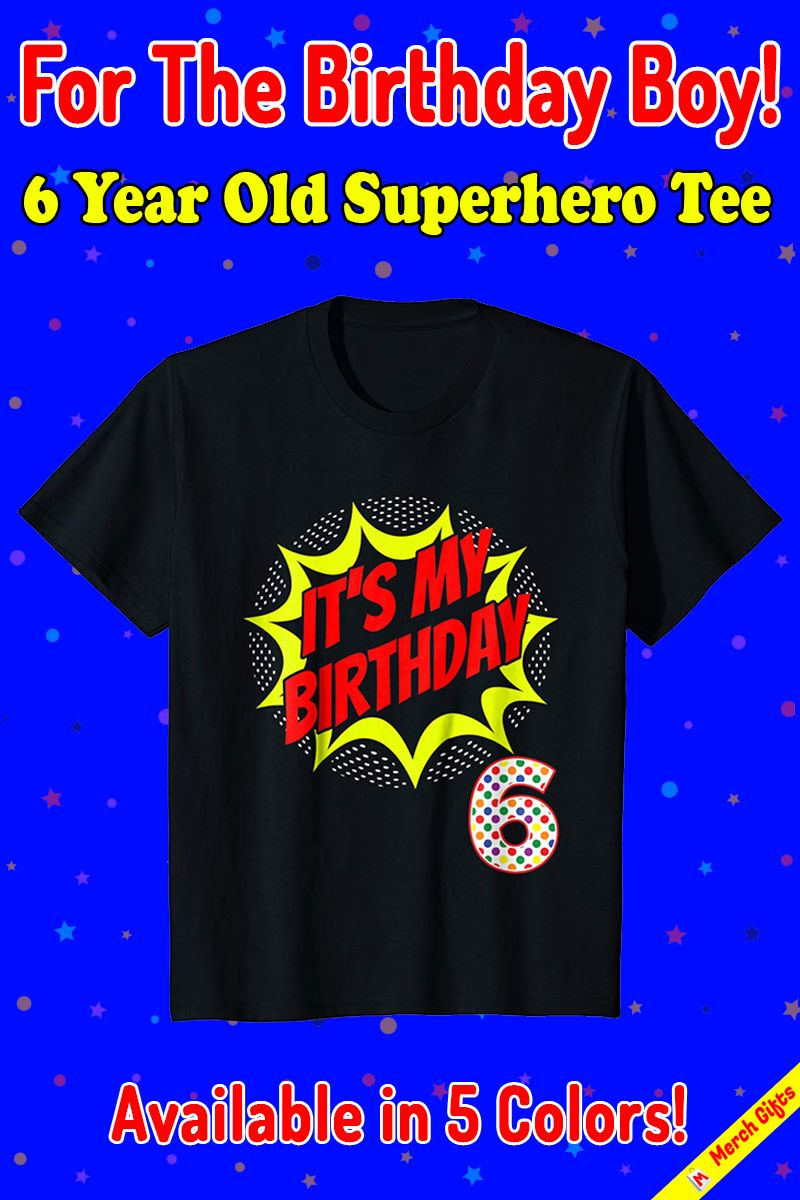 Superhero Birthday Shirt Boys Gift