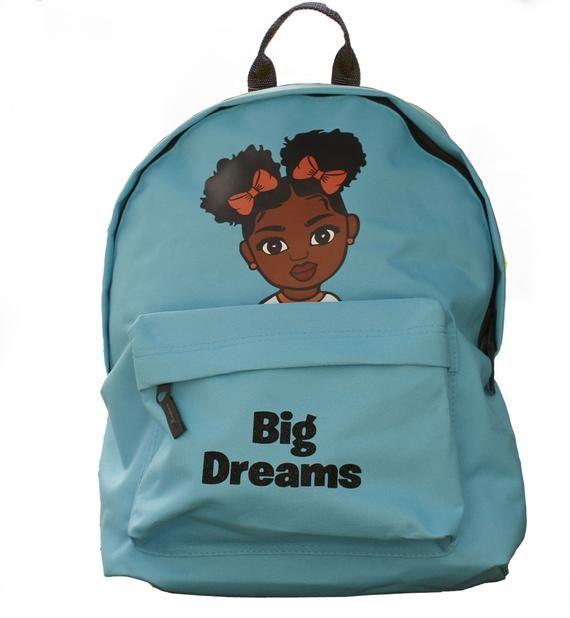 Big Dreams Bags, Black kids bags, Black designs, Back to school bags, Black excellence, Black Girl B #excelwordaccessetc