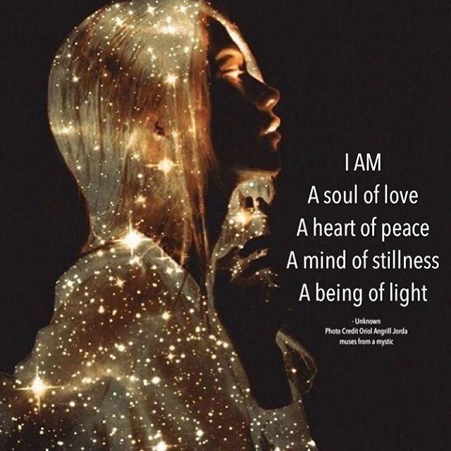 I am a soul of love ♥️  I am a heart of peace ☮️  I am a mind of stillness 🧘🏼♀️  I am a being of light ✨  *  🙌🏻🥰🌟  *  Healthy mind, body & spirit - elevating life force energy.  *  *  *  Instagram: @openheartwellness  Facebook: openheartwellness.ca  *  #love #fitness #wellness #getfit #fitlife #health #meditation #fitchicks #nutrition #spiritual #lifestyle #crystalhealingenergy #findyourstrong #reiki #reikimaster #holistichealth #intuitive #alternativehealth #spirituality #holistic
