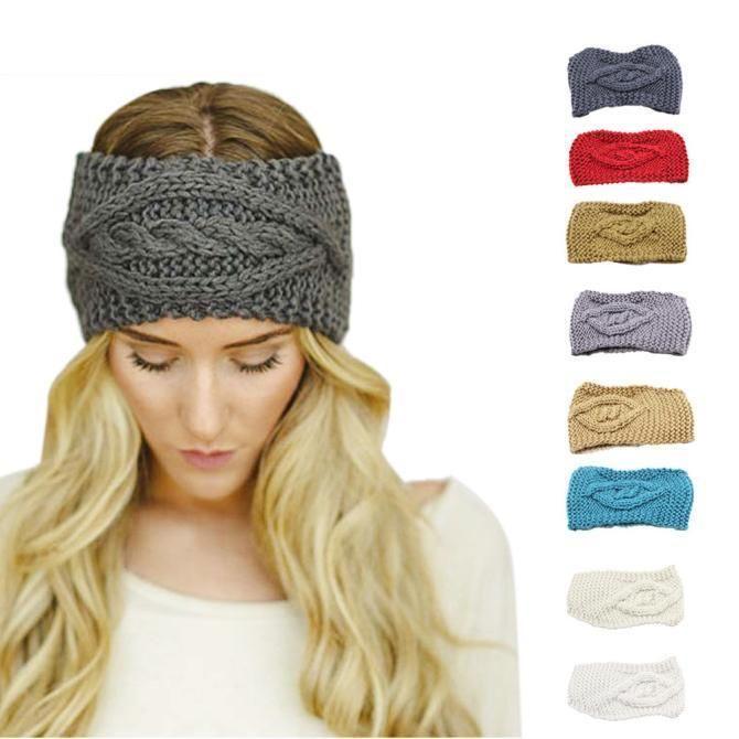 f51f8428 Womens Winter Warm Hats Skiing Cap Knitted Empty Skull Beanie Headband  Hairbands