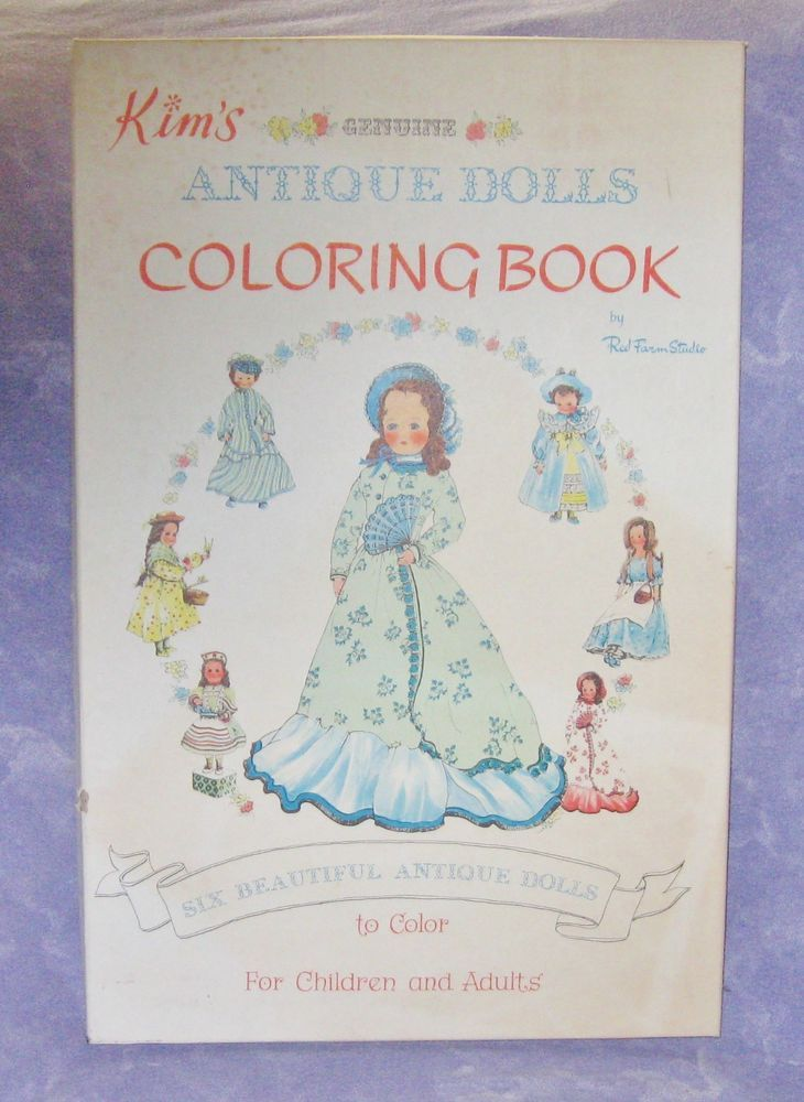 Coloring Book Kims Antique Dolls Red Farm Studio Lg Box Uncolored ...