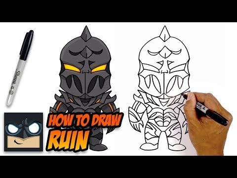 How To Draw Fortnite Ruin Step By Step Tutorial Youtube