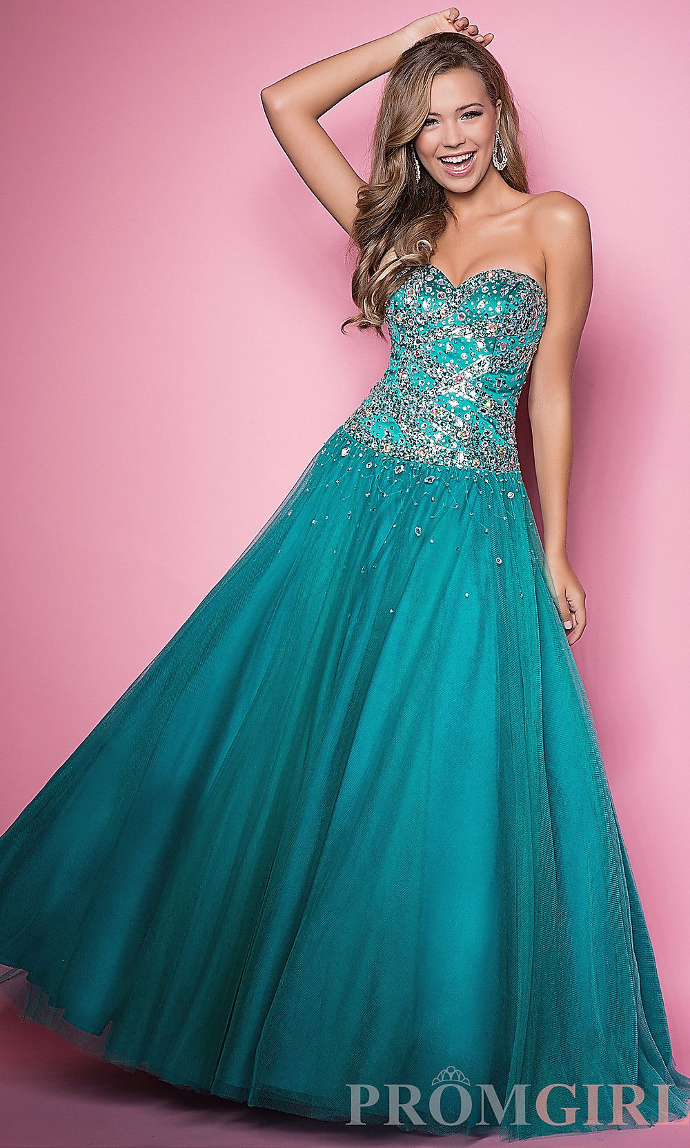 Really cute teal prom dress | Dresses | Pinterest | Prom, Teal and ...
