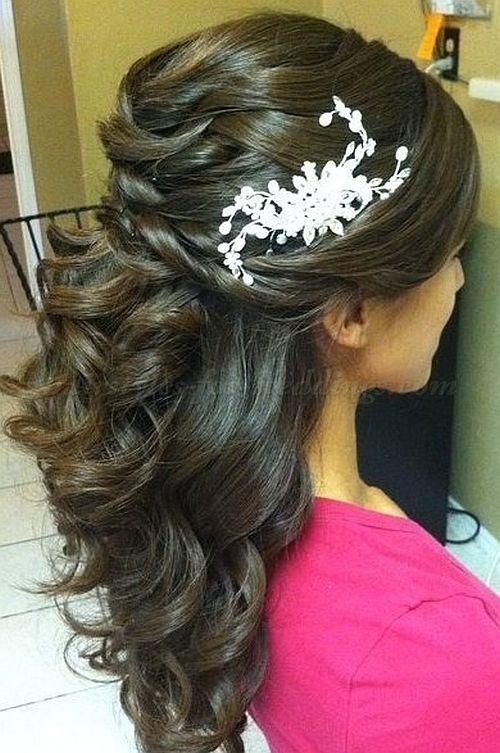 half up half down wedding hairstyle | Wedding stuff | Pinterest ...