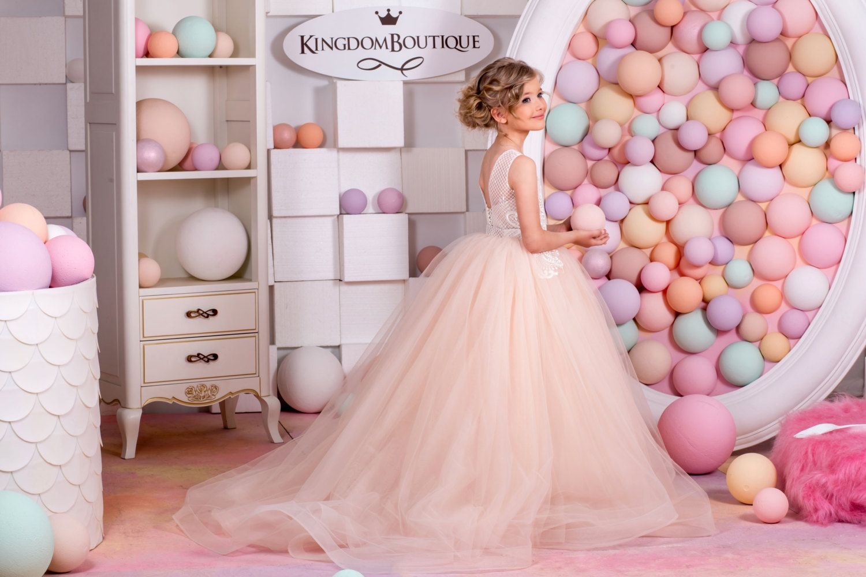 Blush rosa flor vestido de niña día de fiesta por Butterflydressua ...
