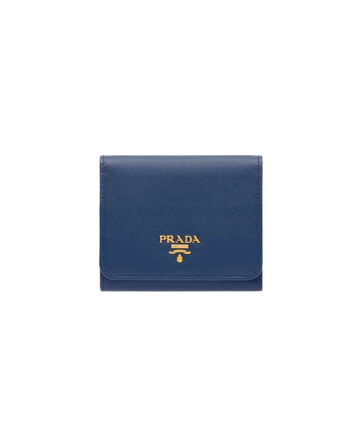 ebe144382fc452 PRADA SAFFIANO LEATHER FLAP WALLET BLUETTE'. #prada #bags #leather #wallet # accessories #