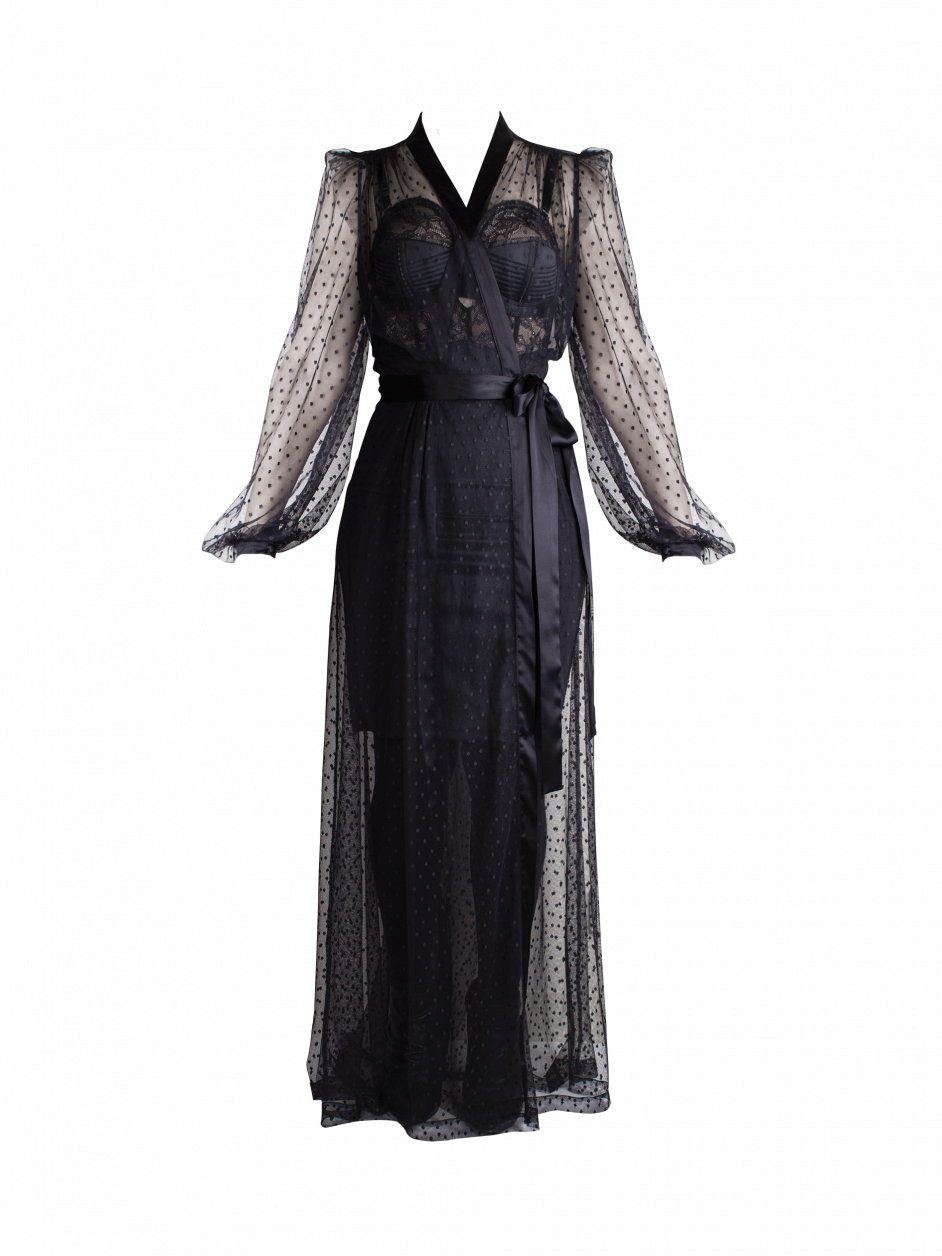 Dita Von Teese Lamarr Spot Robe - Coco de Mer  54c4b8a8e