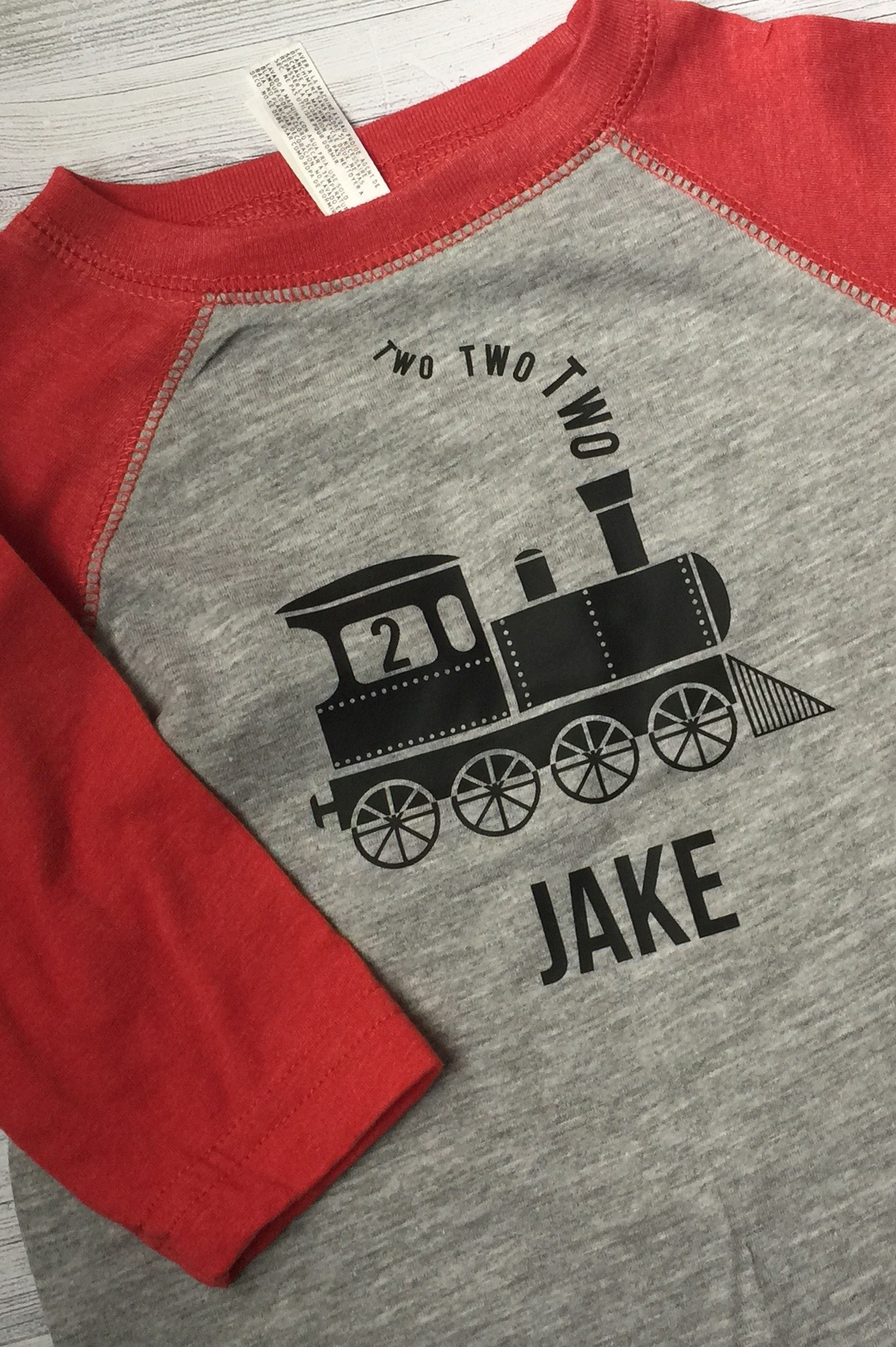 Two Train Birthday Party Shirt