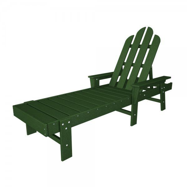 "POLYWOOD Long Island Chaise Lounge (Green) (38""H x 26.50""W x 76""D)"