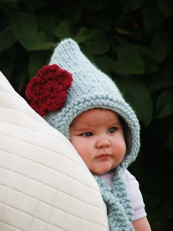 Baby Hat Pixie + cute baby face!!! I want to squish her cheeks ...