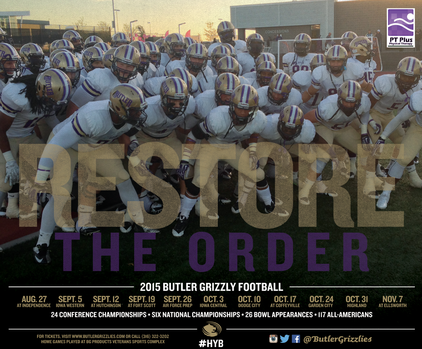 Butler County Community College Football Schedule Poster College Football Schedule National Championship Butler County