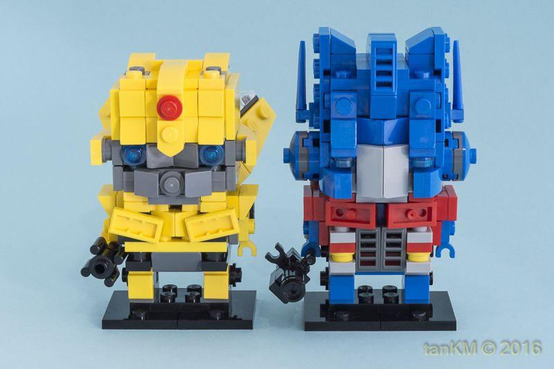 Tkm Brickheadz Optimusprime Bumblebee 2 By Tankm Lego In 2018