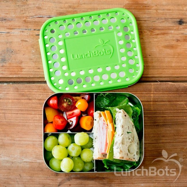 8d5d213bc687 LunchBots Trio Stainless Steel 3 Compartment Bento Box in 2019 ...