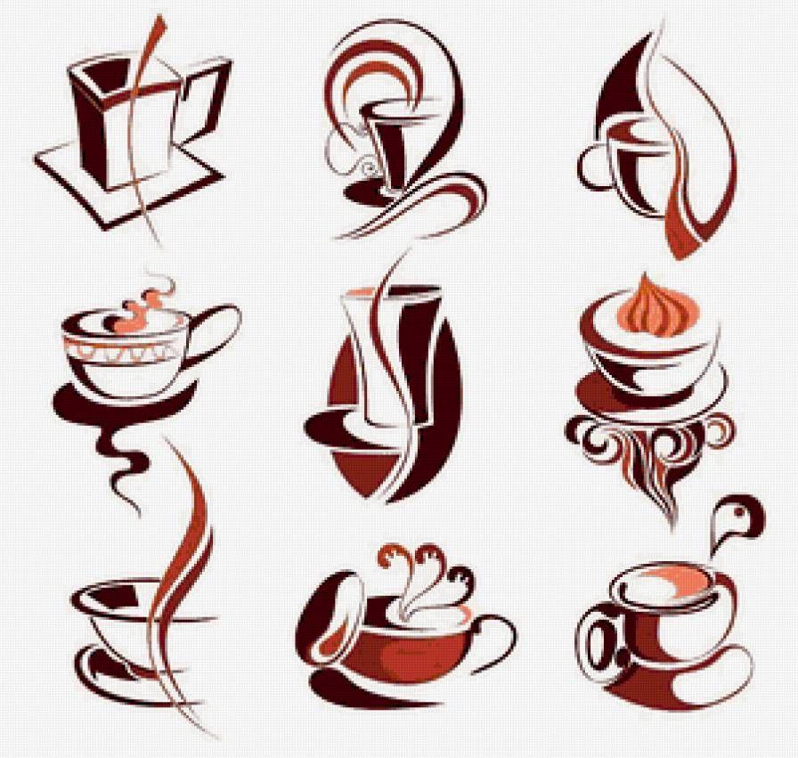 Рисунок с кофейной тематикой, сделать
