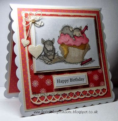 Lexie's Cards: 'So Sweet' House Mouse Card for Joanna Sheen Challenge DT