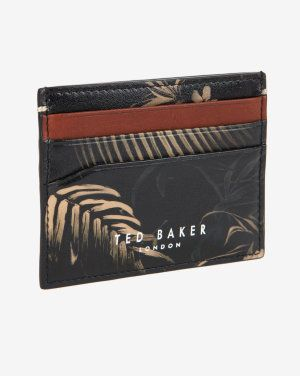 114853022 Printed leather card holder Ted Baker