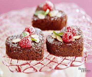 Heart-Shaped Brownie Bites