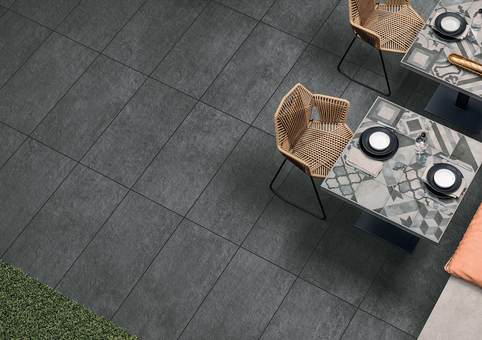 Tiles Garden Design Dark Grey Concrete Style Outdoor Tiles Ceramic Tiles Porcelain