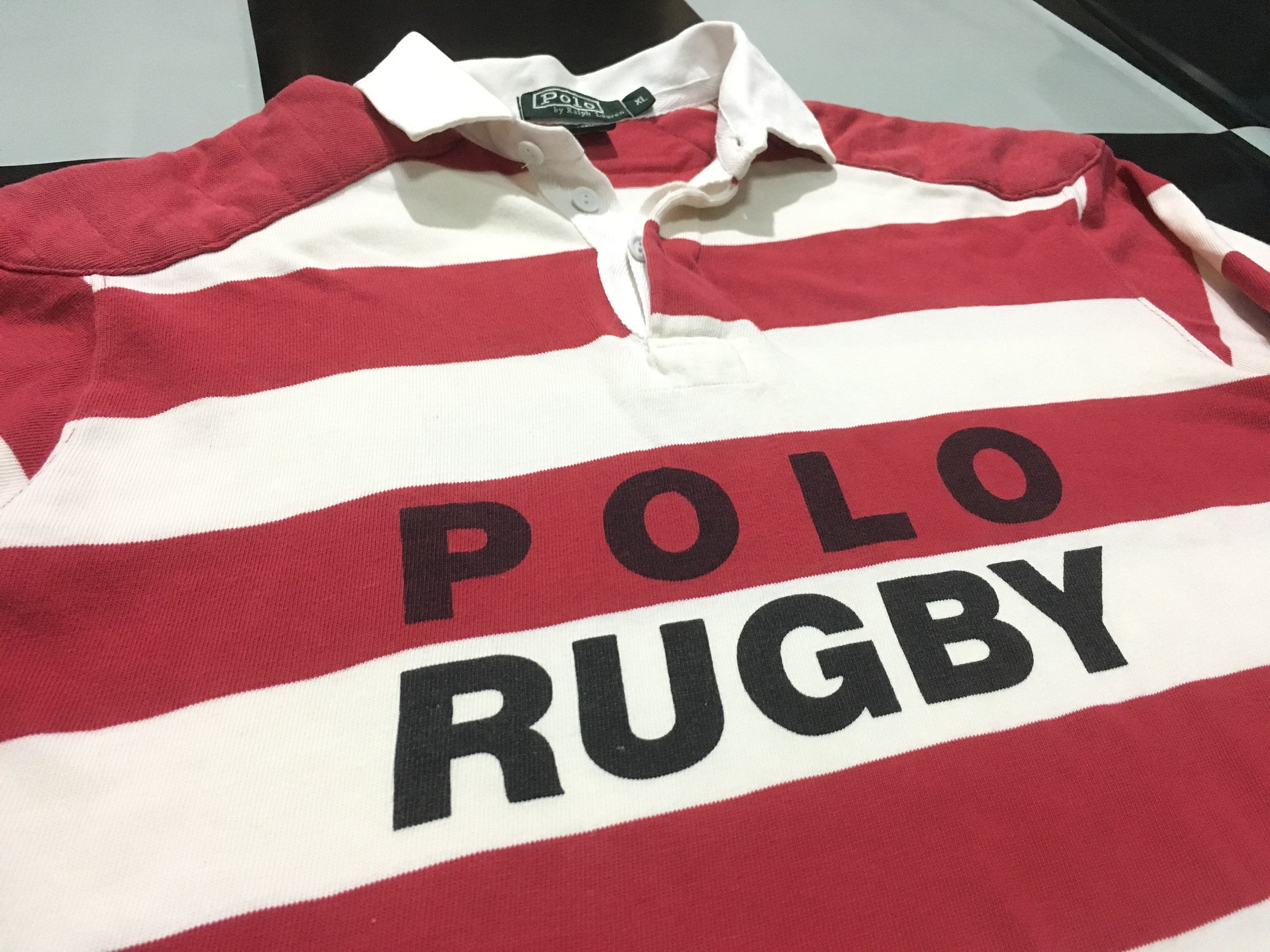 93700d032c8 Rare Vintage Polo ralph lauren rugby shirt long sleeve color striped spell  out POLO RUGBY Size XL Good condition by AlivevintageShop on Etsy