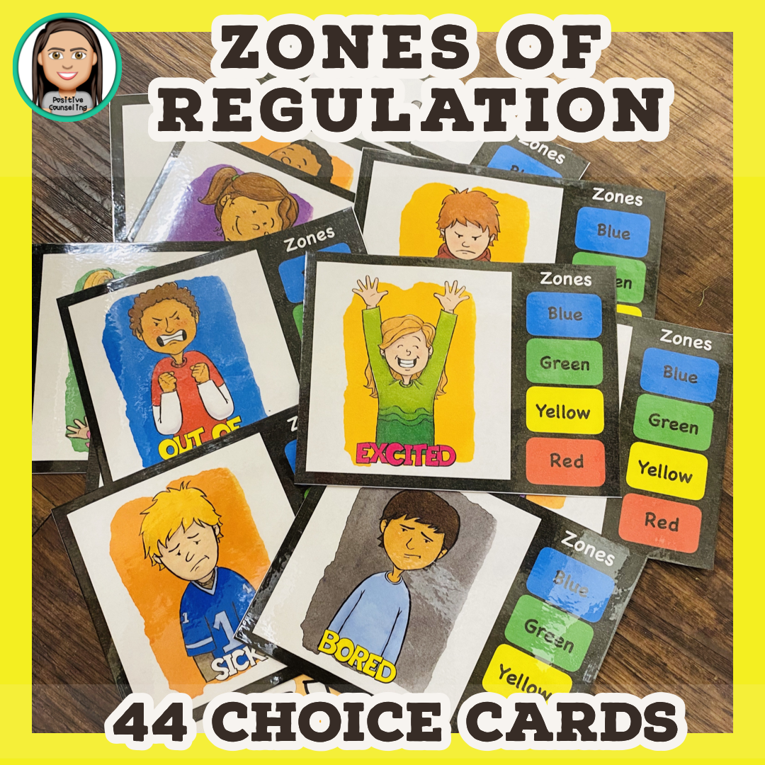 Zones Of Regulation Choice Cards In
