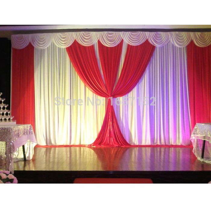 ==> [Free Shipping] Buy Best wedding backdrop stage curtain Backdrop for Wedding Decoration 10ft20ft wholesale Stage background Color can be customized Online with LOWEST Price | 32299662531