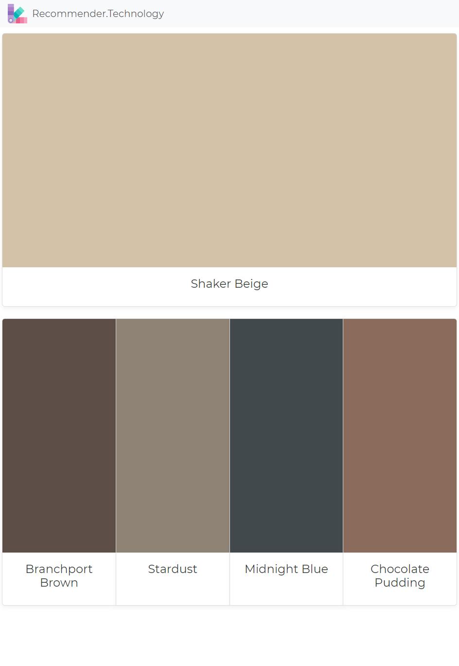 Colori Per Pittura Esterna Casa shaker beige: branchport brown, stardust, midnight blue