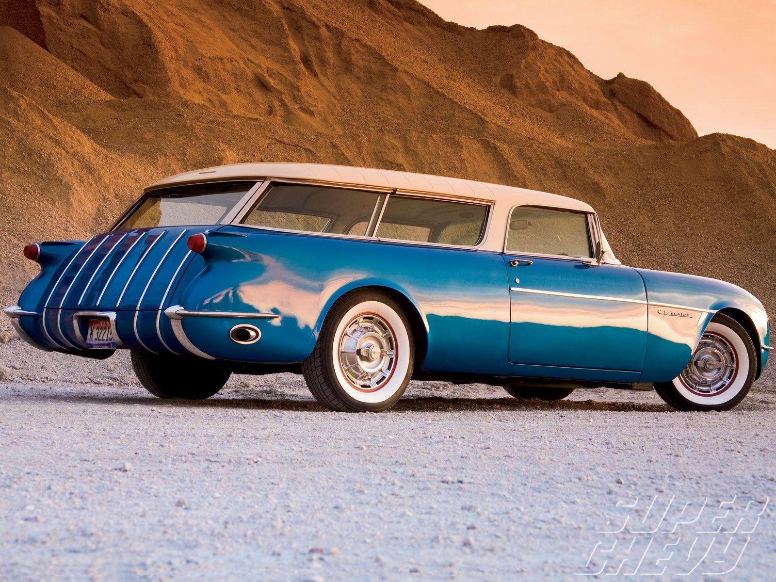 Shooting Brake 1954 Chevrolet Corvette Nomad Concept Car Classic Cars Corvette Chevy Corvette