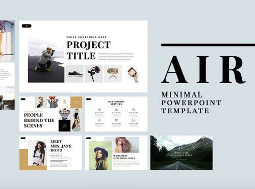 Image result for fashion brand presentation all about edie air minimal free powerpoint template via toneelgroepblik Images