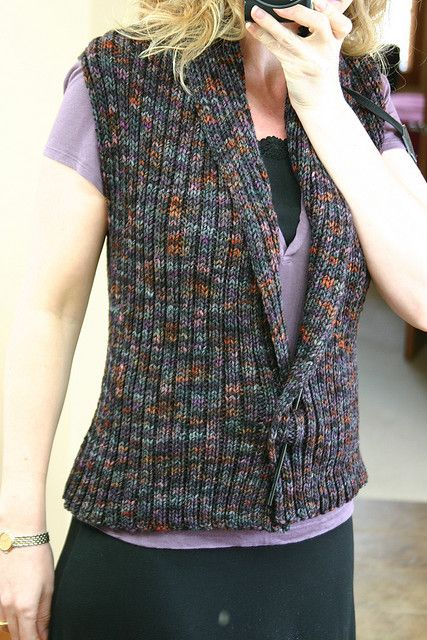 d274f71653cae looks like a super easy knit vest pattern. good for an interesting yarn