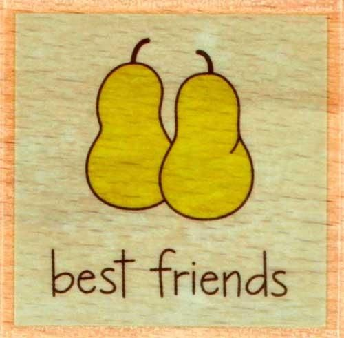 Studio G Wood Mounted Rubber Stamp Best Friends