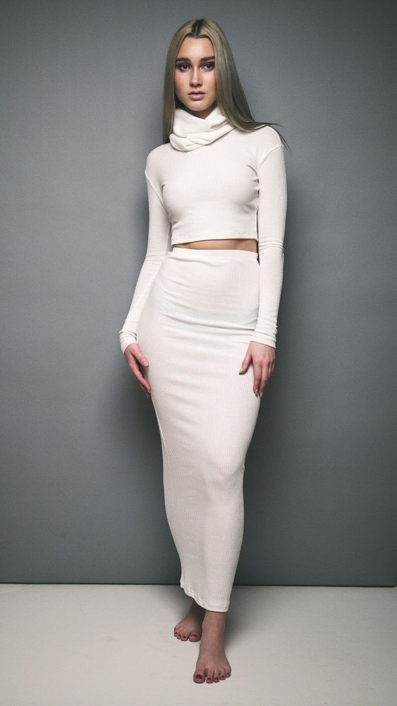 Long ankle length pencil skirt | Phlo by Mariah | Loveeeee this ...
