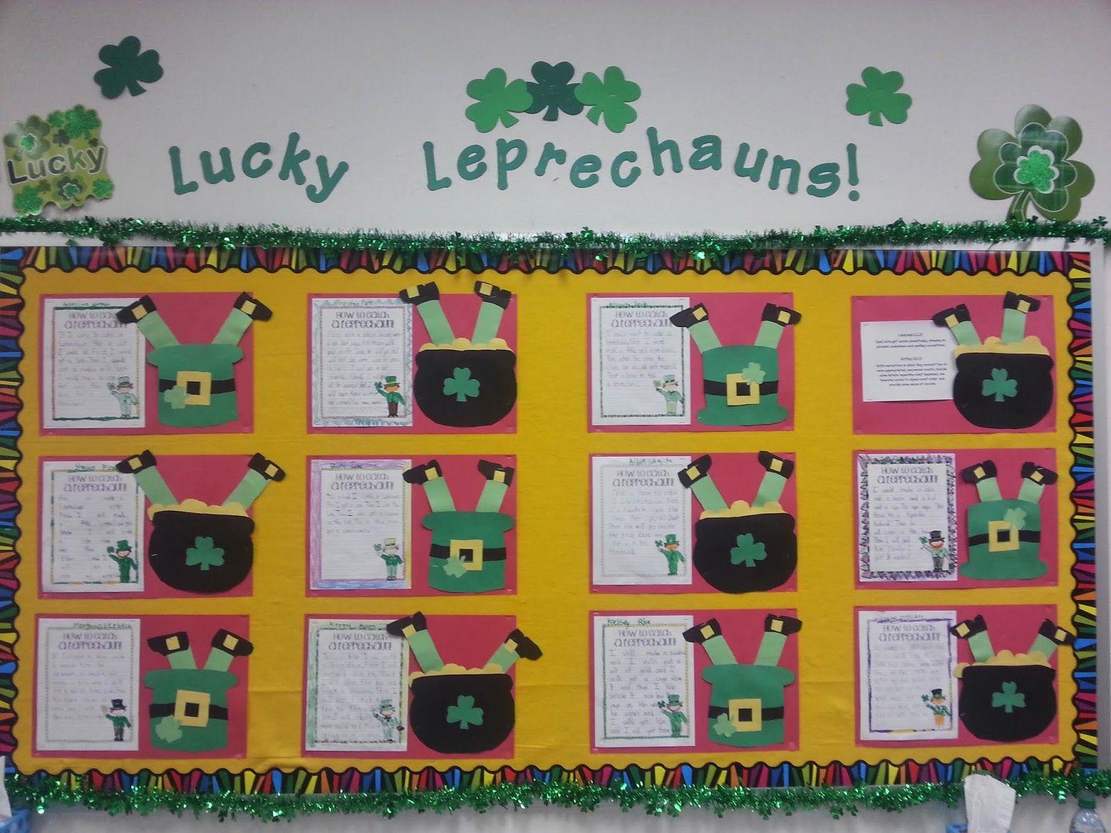 Leprechaun Classroom Visit Ideas ~ Writing how to catch a leprechaun secondgradesquad