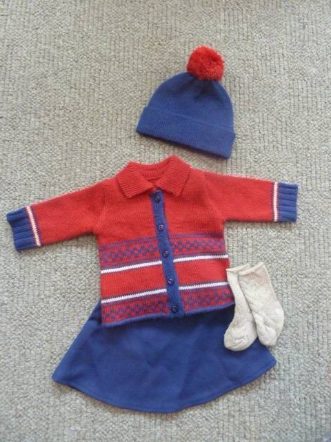 Retired American Girl KIT SCHOOL SKIRT SWEATER OUTFIT REPRO w SHOES and SOCKS