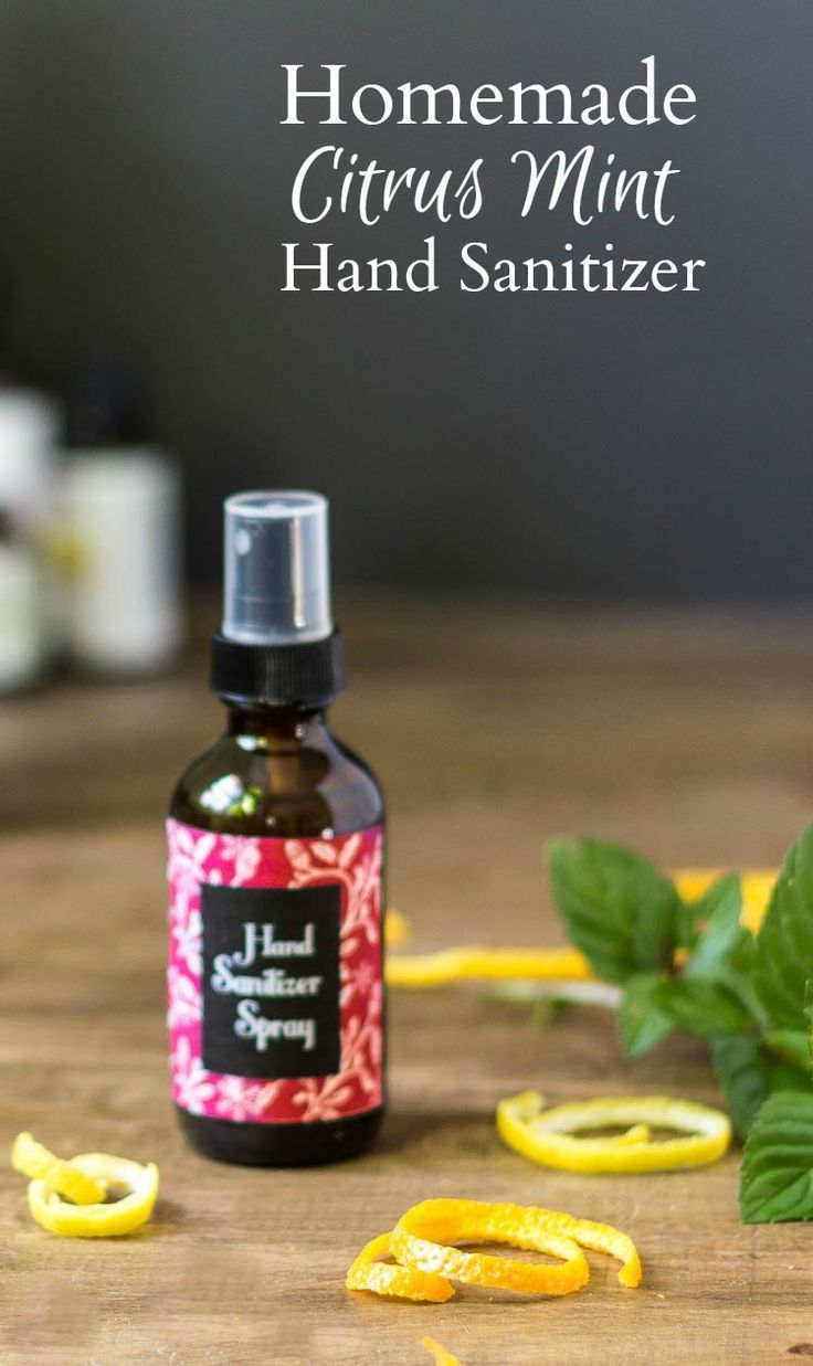 Homemade Citrus Mint Hand Sanitizer Spray Diy Gallery Hand