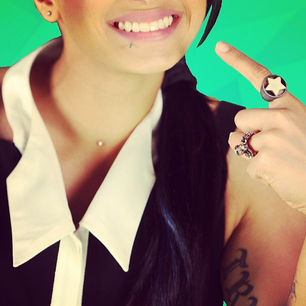 MTV style pic of the day with VJ @bani javan! Color me monochrome! for further style tips log onto www.mtv.in.com/style