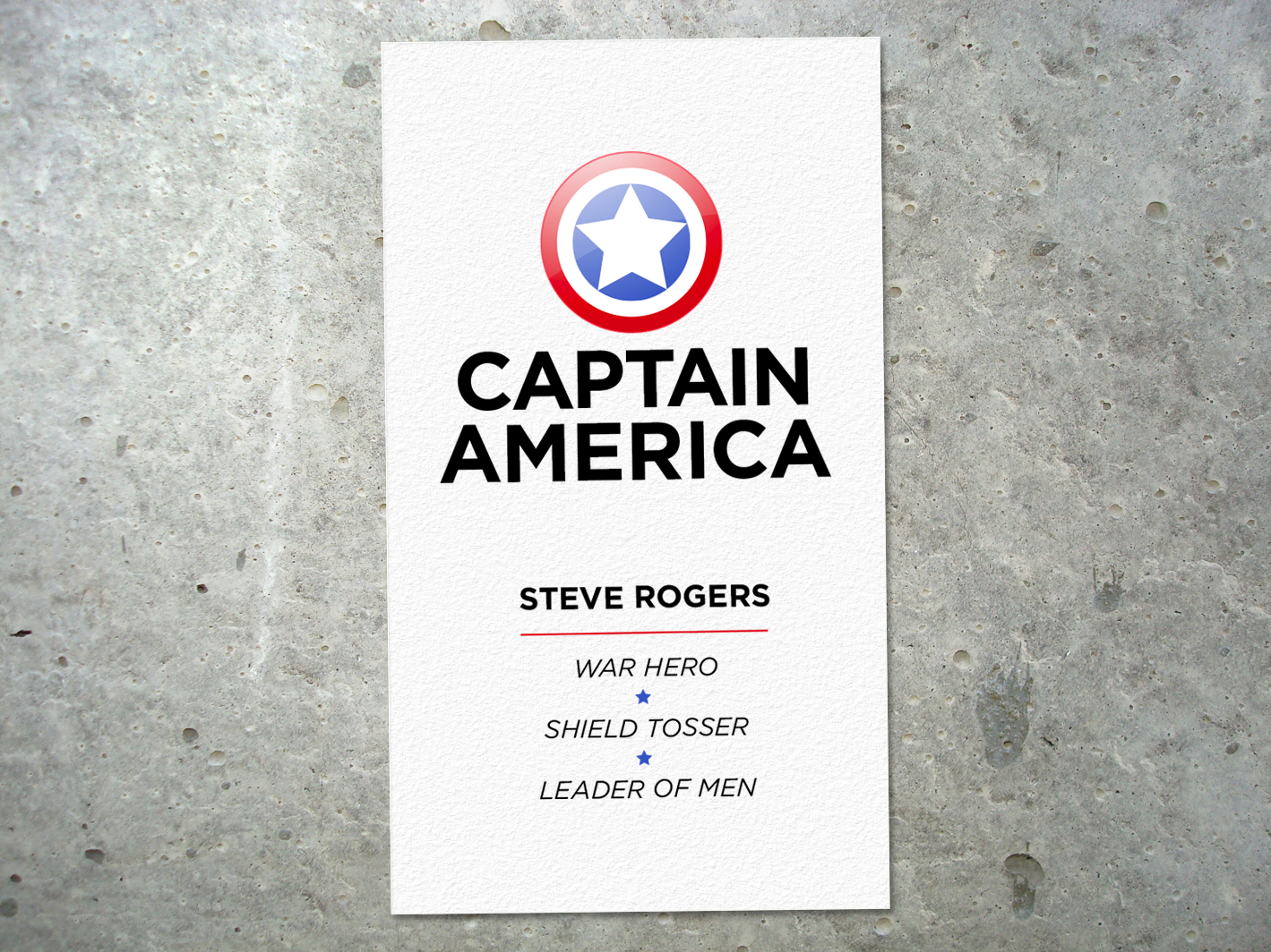 Captain america business card to go with your cosplay captain captain america business card to go with your cosplay magicingreecefo Choice Image
